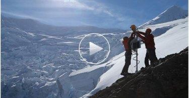 Filma glaciärer som smälter