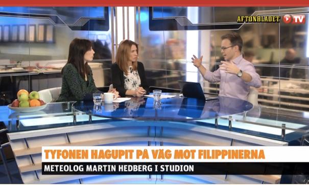 Aftonbladet TV om supertyfonen Hagupit