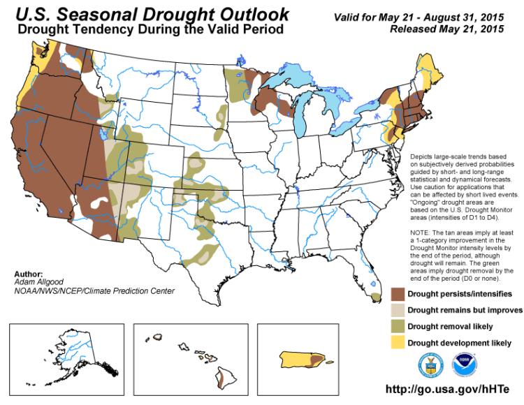 NOAA Seasonal Drought Forecast