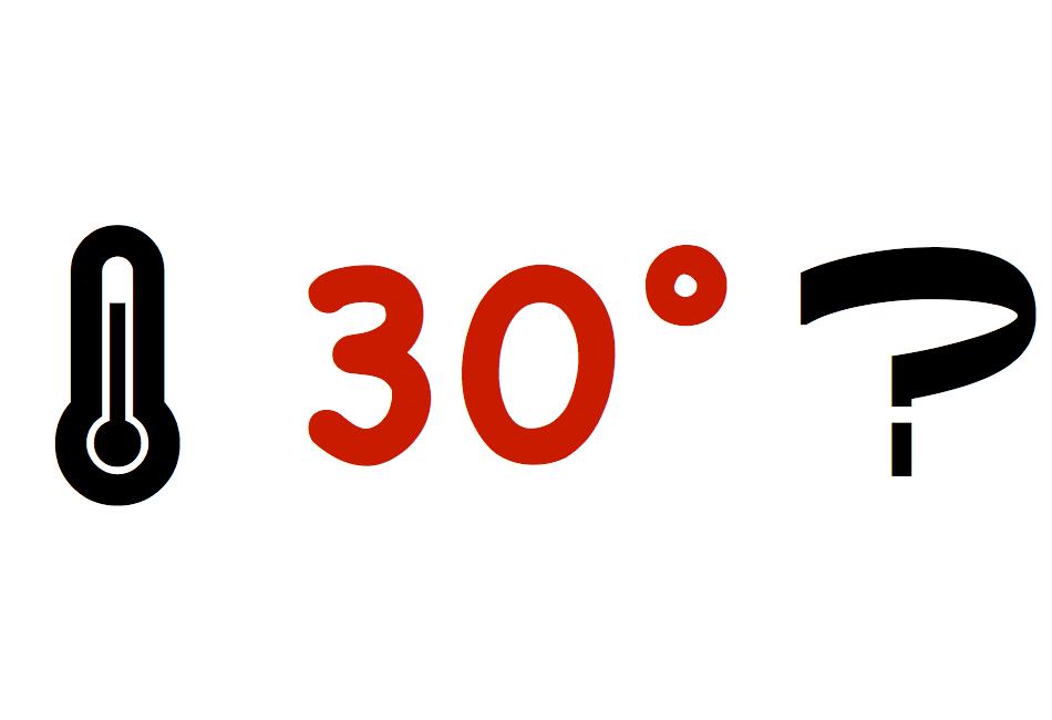 Kan det bli 30 grader nästa vecka?