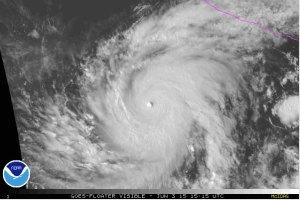Orkanen Blanca slår rekord
