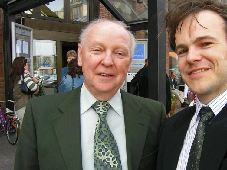 John Pohlman och undertecknad inför föreläsning i Göteborg den 7 maj 2004.