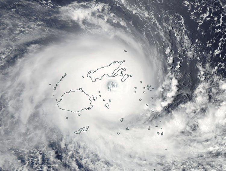Winston, södra halvklotets kraftigaste cyklon