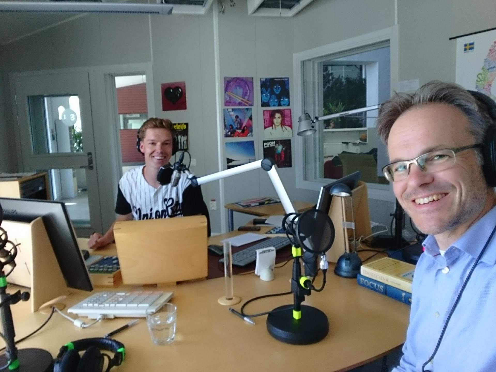 Jag i samtal om klimat och säkerhet i P4 Gotland