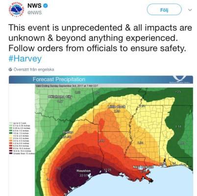 Orkanen Harvey och klimatet