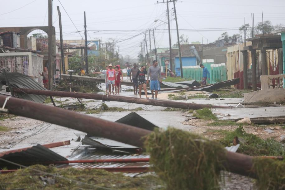 Irma, från Kuba till Key West