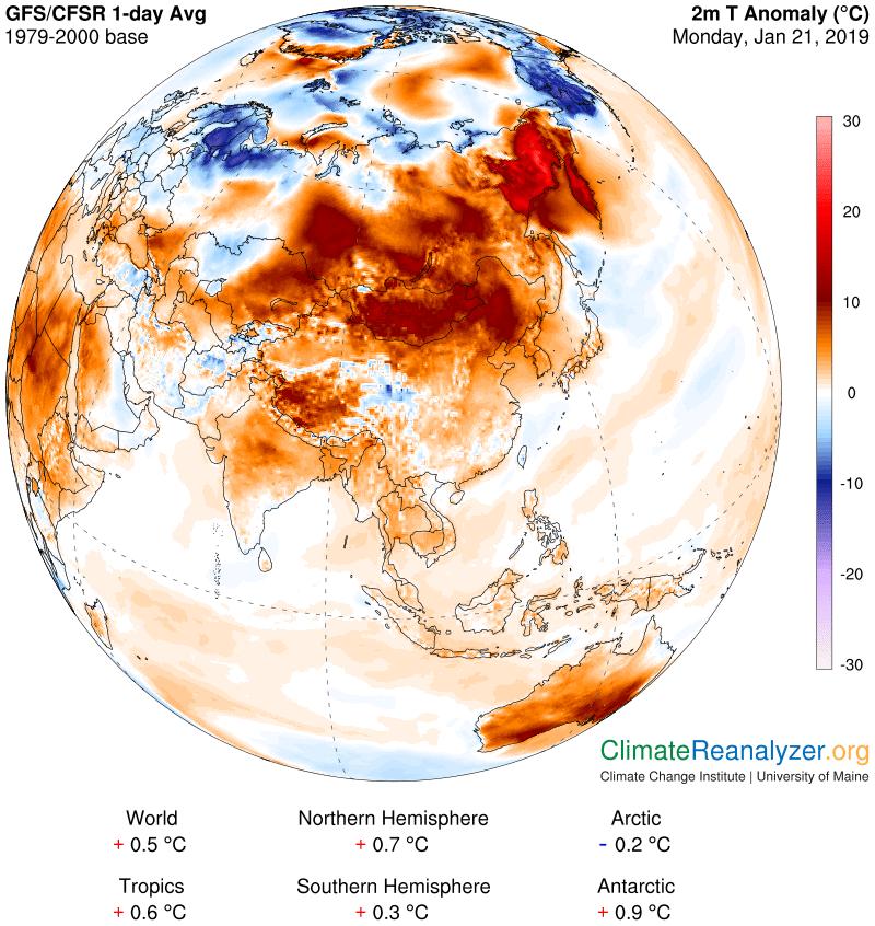 Kallt i Sverige, Varmt i Sibirien