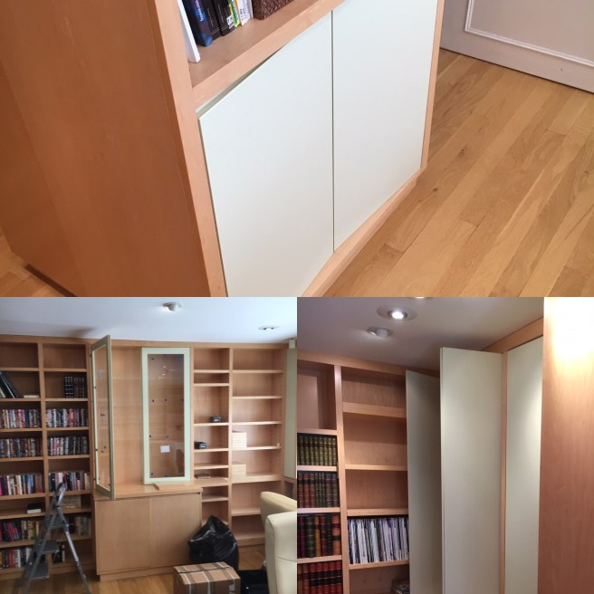 Fitting doors on home office cupboards