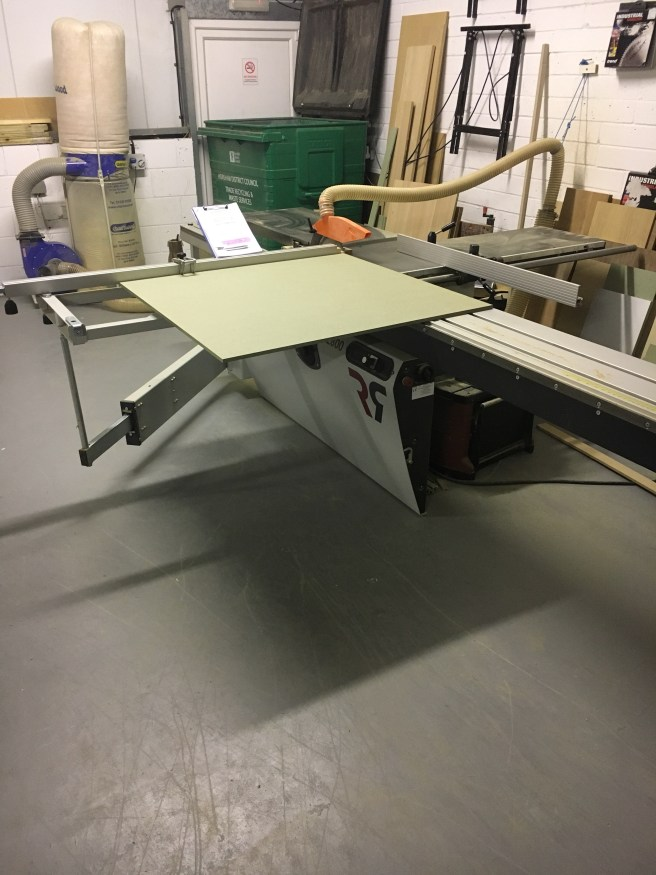 Panel saw with sheet material