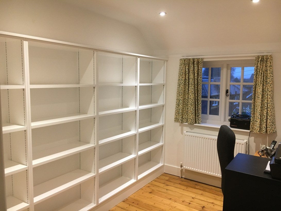 Office shelving for a home in Steyning West Sussex