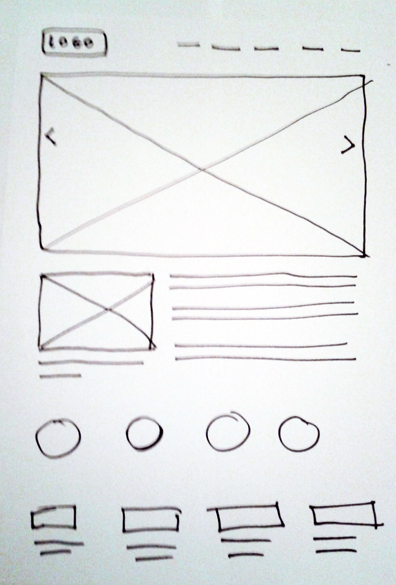 Gilmour Architects wireframe sketch