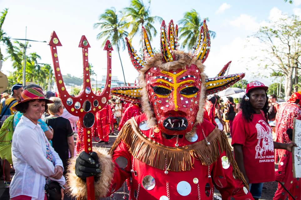 Diavolo rosso Martinica Carnevale ©Caroline Paux
