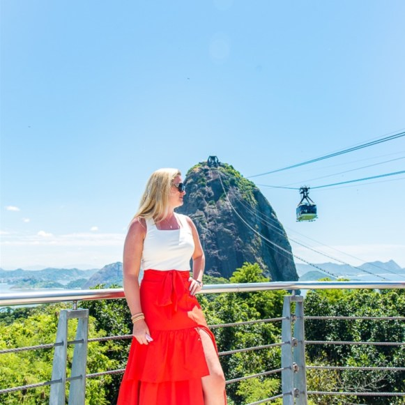 Looking at Cable Car on Sugar Loaf Mountain