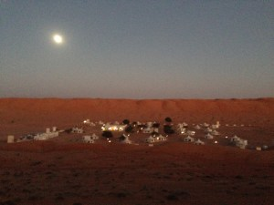 Full moon over the Desert Nights Camp