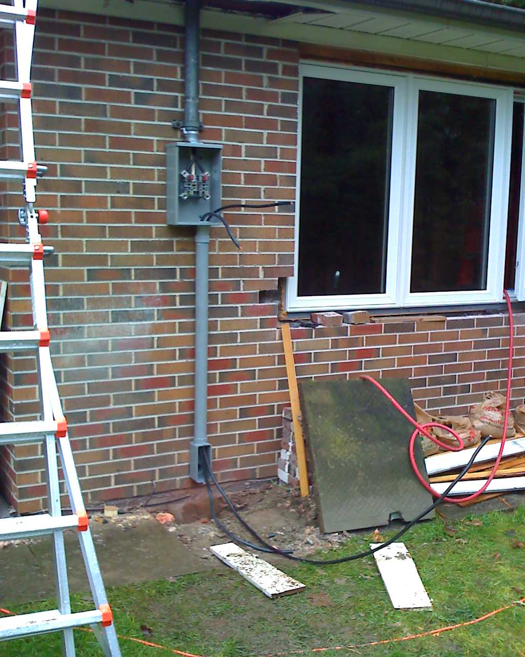 hight resolution of i took wednesday off to upgrade the electrical panel meter base and to get the rough in stage of the electrical completed it was a long day