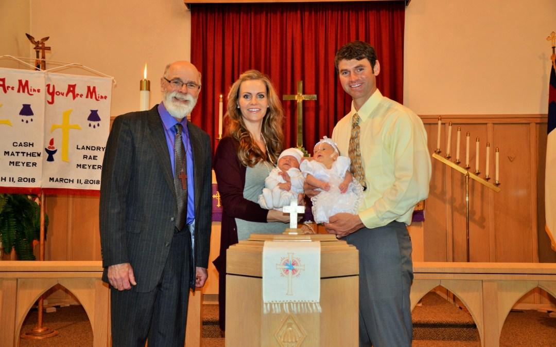 Cash Matthew Meyer and Landry Rae Meyer – Baptisms