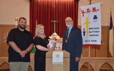 Brecken Matthew Munson – Baptism