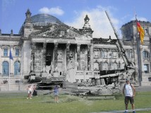 Battle of Berlin Reichstag Before and After