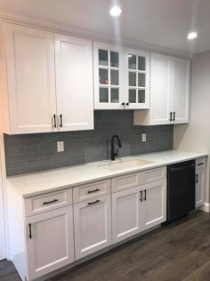 after kitchen-renovation - sink & cabinets