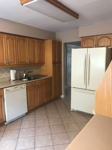 before kitchen renovation - cabinets & appliances