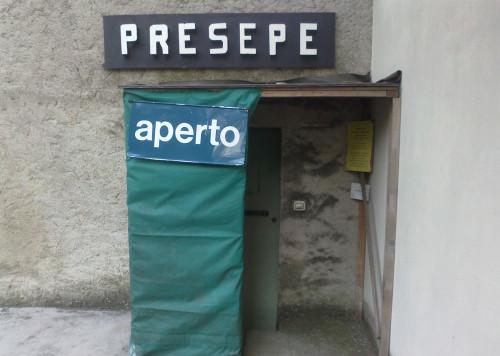 l'ingresso al presepe meccanico di Borgo Rivola