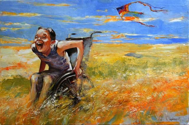 Il dono, dipinto di Yuliya Odynoka