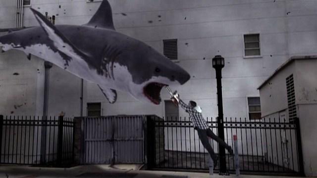 ian ziering vs squalo in sharknado