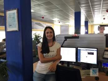 KS an ihrem Arbeitsplatz