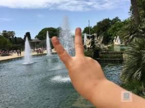Die Wasser Fontänen im Park Ciutadella