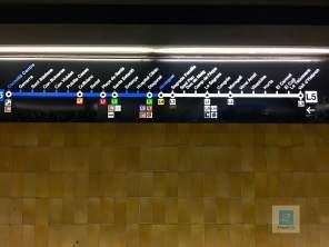 Die Routen der U-Bahn