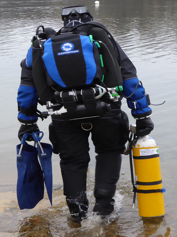 Test diving a new rebreather