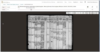 "Church records in the ""new"" digital archives"