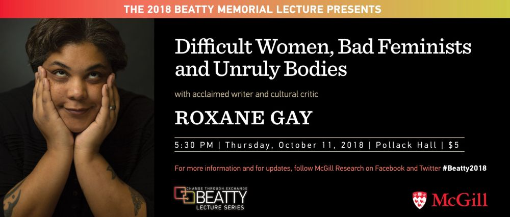 Roxane Gay Montreal October 11 2018