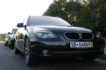 Front view of the BMW 5 series edition LifeStyle - Martin's Taxi