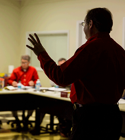 safety trainer leading a workshop