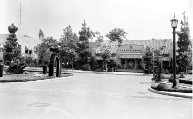 Cafe de Paris on the Fox lot studio commissary, 1930