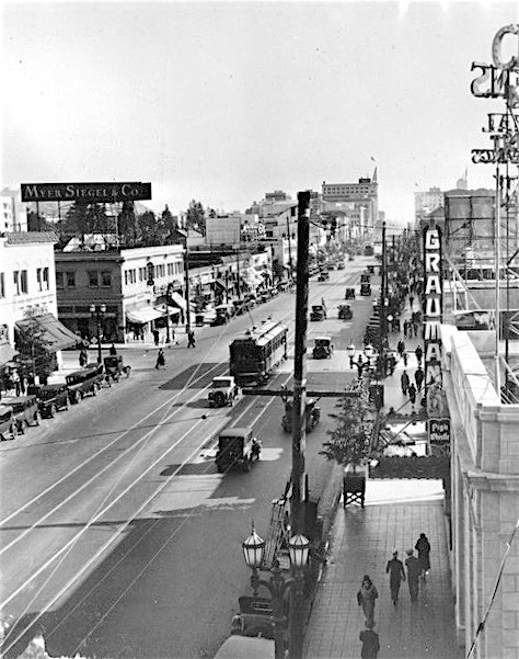Hollywood Boulevard, east from McCadden Place, 1928
