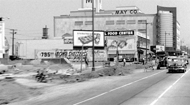 May Company department store, Wilshire Blvd, circa late 1940s.