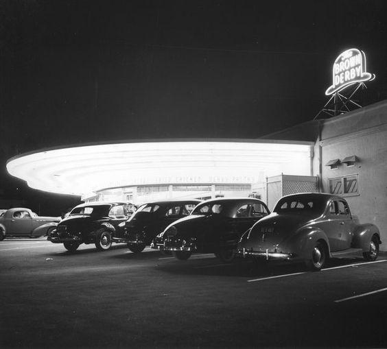 Brown Derby Restaurant, Los Feliz Blvd, Los Angeles, circa 1947
