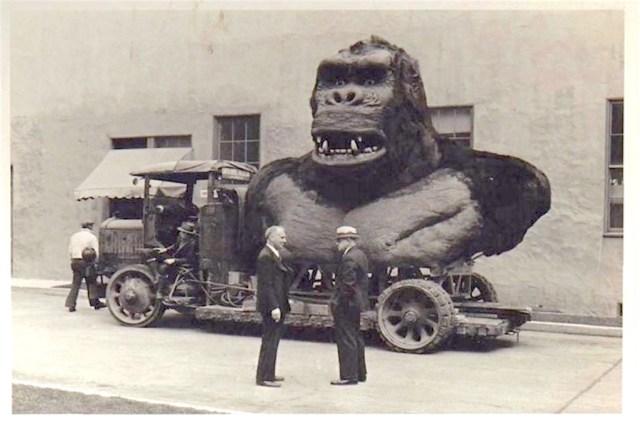 Life-size King Kong model, probably RKO, circa 1932 or 1933