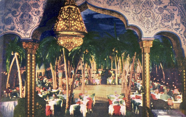 Undated postcard of the Ambassador's Cocoanut Grove nightclub, Los Angeles