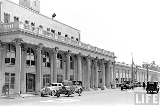 Original MGM gates on Washington Blvd, Culver City, circa mid 1930s