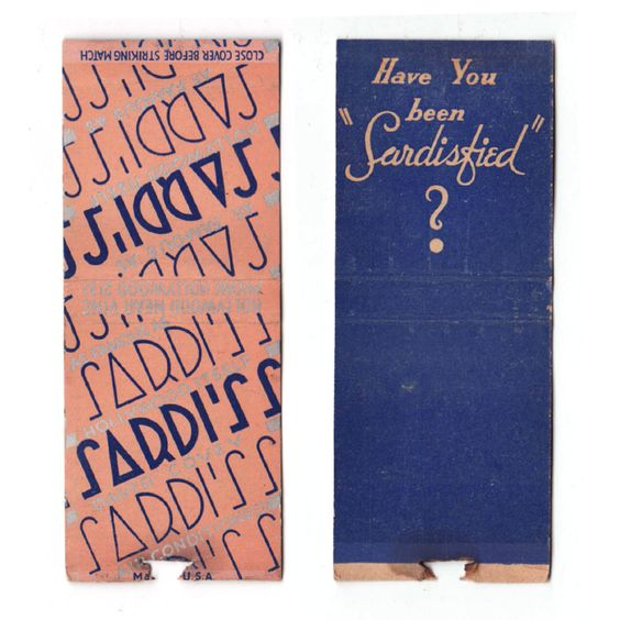 Sardi's matchbook