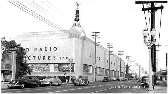 RKO Studios, corner of Melrose Ave and Gower St, Hollywood, circa late 1940s