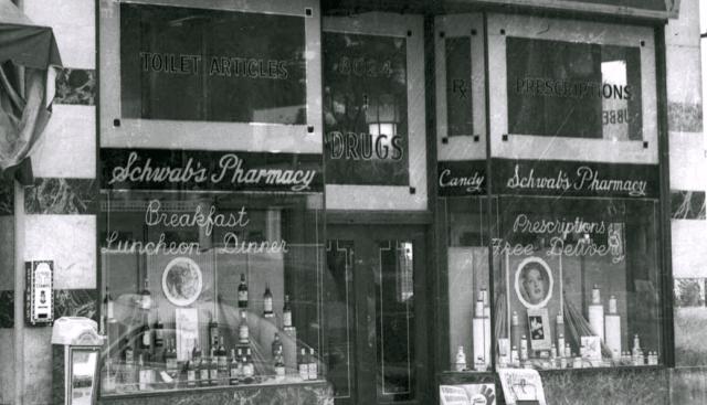 Schwab's Pharmacy - 8024 Sunset Boulevard, Los Angeles, 1949 -2