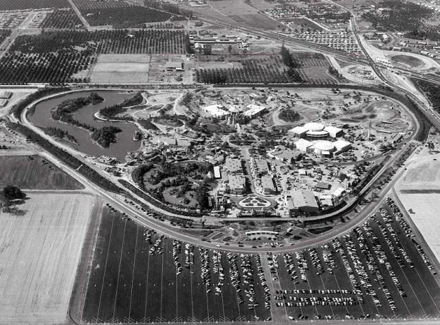 Aerial Photograph Of Disneyland On Opening Day Anaheim California