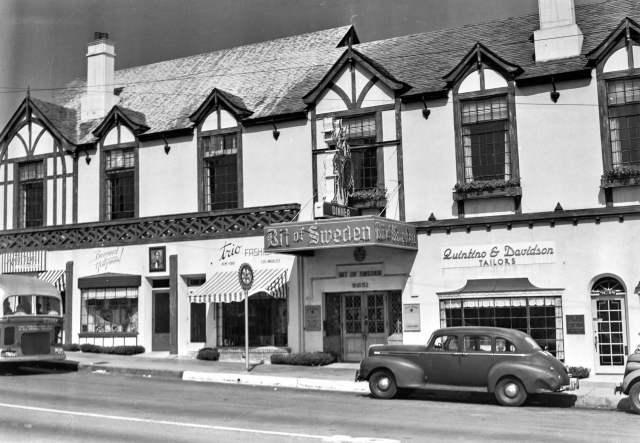 Bit of Sweden restaurant, 9051 Sunset Blvd., Hollywood, circa mid 1940s