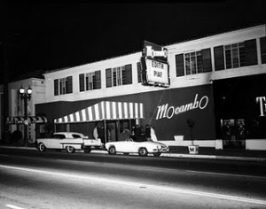 The Mocambo nightclub, Sunset Strip, 1957