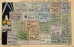 Map of celebrity prints in the forecourt of Grauman's Chinese Theater