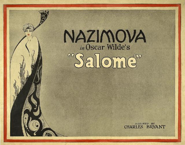 """Nazimova in Oscar Wild's """"Salome"""""""